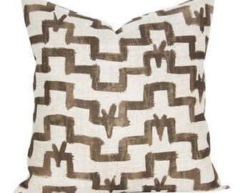 Tulu pillow cover in Umber