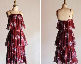 Vintage Cortona Summer Floral Tiered Dress