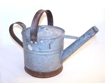 Watering Can Galvanized Metal Copper 1-Gallon