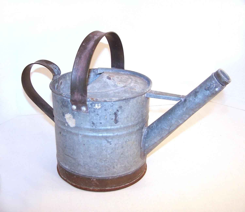 Watering can galvanized metal copper 1 gallon - Gallon metal watering can ...