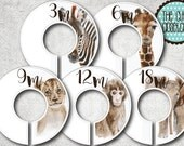 Baby Closet Dividers - Safari Lovers