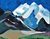 New Hampshire Painting, White Mountains, NH, Original Art.