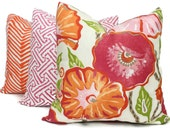 Thibaut Nassau Flower  Decorative Pillow Covers 18x18, 20x20 or 22x22, or lumbar pillow, Floral pillow, Toss Pillow, Accent pillow