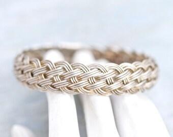 Woven Wire Bangle Bracelet - Boho Jewelry