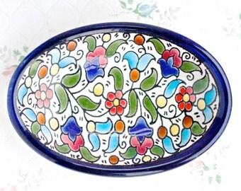 Colorful Soap Dish - Ceramic Trinket Dish - Tiny bowl - Boho Home Decor