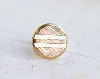 Vintage Tie pin - Geometric Golden Patterns