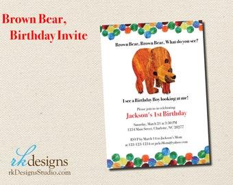 Eric Carle Inspired Brown Bear Brown Bear Collection Felt