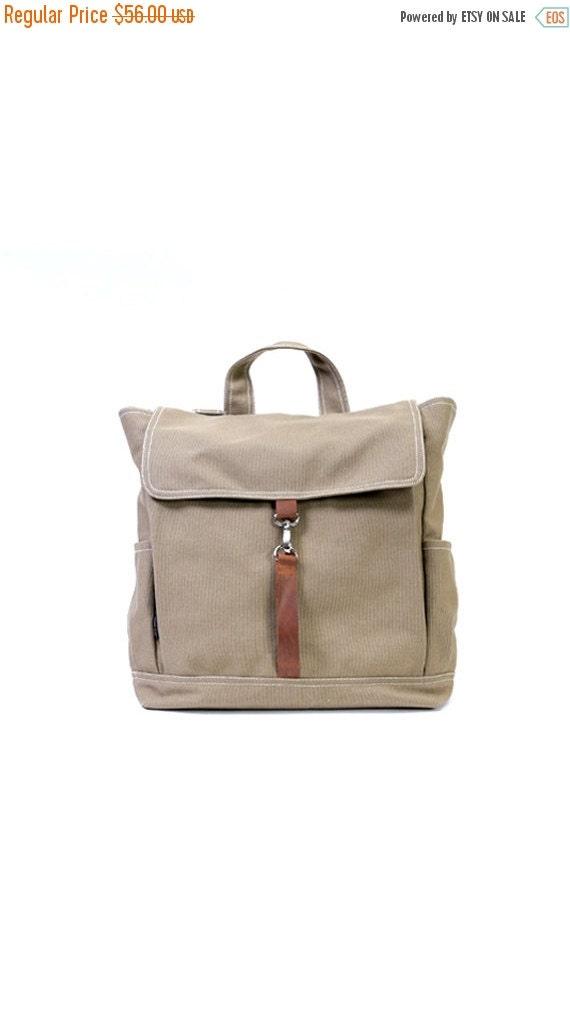 20% SALE back to school KYLE // Sandy Brown / Lined with Beige / 098 // Ship in 3 days // Backpack / Diaper bag / Shoulder bag / Tote bag /