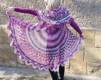 Crochet Bohemian Vest, Boho Style Vest, Multicolor Festival, Hippie Bolero, Circular Vest, Bohemian Waistcoat, Lace Vest, Mandala Bolero