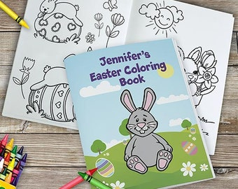 Personalized Easter Coloring Book, Easter book, kids coloring pages, Easter coloring pages, easter basket ideas, -gfy11011116