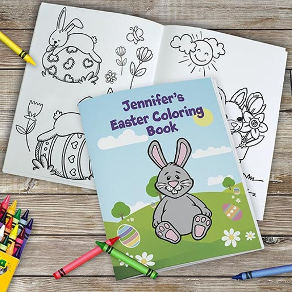 Personalized Easter Coloring Book Kids