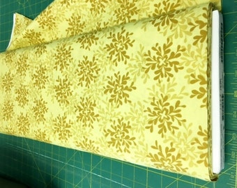 01938  Free Spirit Valori Wells Nest Leaves in Yarrow color - 1 yard