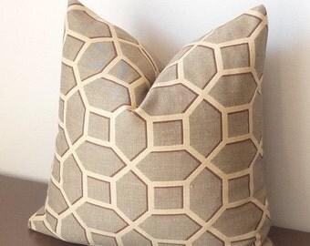 SALE! Geometric Pillow,Linen,Trellis Pillow, DesignerPillows, Modern,Contemporary,Woven Lattice Throw Pillow,Midcentury style