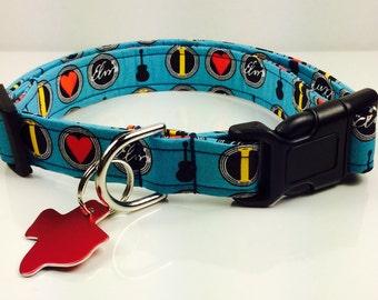 I LOVE ELVIS - Dog Collar - Adjustable