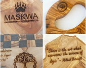 Wooden Custom Laser Engraving , Personalized monogram, Engraved Monogrammed Wooden Gift, Wedding Gift / Christmas Gifts Idea