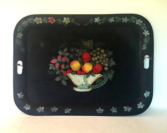 Vintage toleware tray