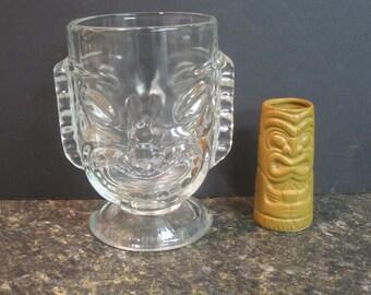 Tiki Mug Glass Two faced plus Tiki Shot