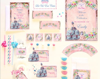 MARIE ANTOINETTE  PARTY Collection ~ Personalized Printable Download