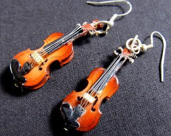 OR00016 Violin earrings earrings violin violin 2 violin Miniblings Orchestra violinist + box