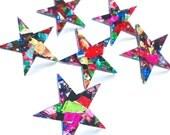 Fireworks Glitter Mega Star Studs - Laser Cut Stud Earrings