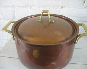 Vintage Copper Paul Revere Pot - Brass Handles - Limited Edition
