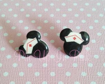 Nurse Minnie Silhouette Earrings