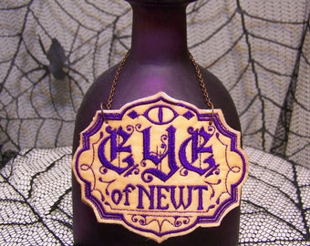 Eye of Newt Lighted Bottle, Lighted Patron Bottle, Lighted ApotheSCARY Bottle