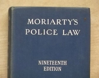 Moriarty's Police Law 1960s book