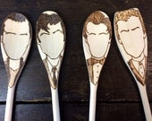 Doctor Who Wooden Spoons -Set of 4- Dr Who Christmas Gifts Under 40 Gifts for Her Gifts for Him Time Lord Home Decor Tardis Kitchen Dalek