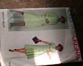 Vintage Vogue Paris Original Paper Pattern by Molyneux