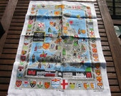 Map of Royal Britain Souvenir Tea Towel
