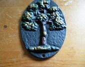 Tree Fire Mark Cast Iron