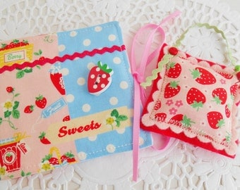 Cute Strawberry Themed Sewing Kit