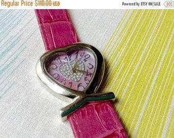 WATCH CLEARANCE EVENT August Steiner womens watch hear shaped  fashion watch