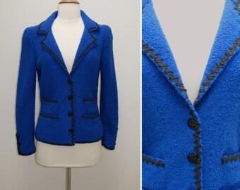 Vintage 1960s Adolfo Saks Fifth Avenue Soft Knit Blazer