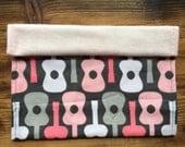 Pink guitar shoulder cloth