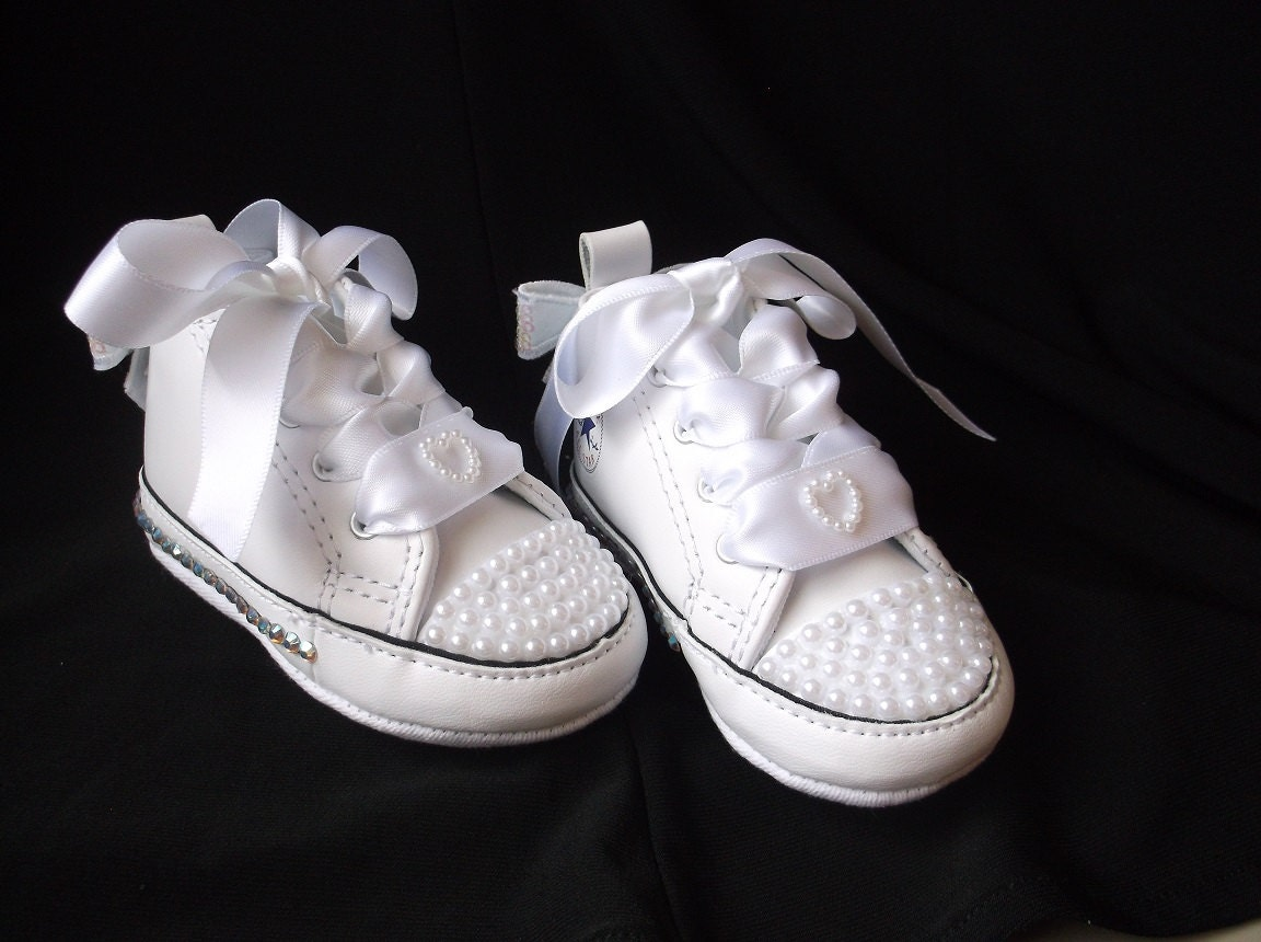 Bling Converse AB Crystals Baby Shoes High Top Sneakers