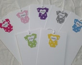 Set Of 12 Onesie Wish Tree Tags - Baby Shower  - Choice of Color