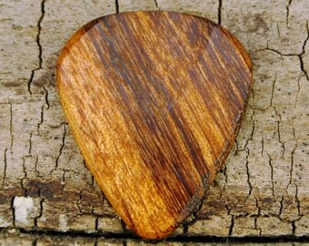 Tigerwood - Wooden Guitar Pick - Wood Guitar Pick - Wood Plectrum - Exotic Wood - Wood Gift - Engraved Guitar Pick Option Available