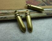 30pcs 5x24mm The Bullet Antique Bronze Retro Pendant Charm For Jewelry Bracelet Necklace Charms Pendants C6787