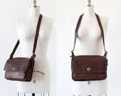 Vintage Coach Bag / Dark Brown Leather Purse / Coach Leather Purse / Coach Bag / Crossbody Messenger / Bonnie Cashin Coach Bag