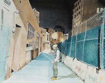 Matthew in Manahttan New York Original Painting