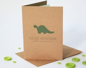 Roarsome Father's Day Card - Daddy Dinosaur - Card for Dad - Father's Day Card - Card for him - Dinosaur Card - Dinosaur Father's Day Card
