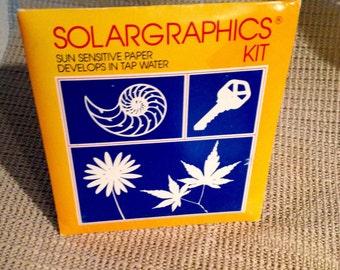 Vintage 1984 Solargraphics Sun Sensitive Paper Kit - NEW OLD STOCK!