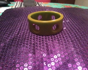 Bakelite drilled bangle bracelet