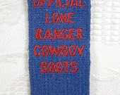 PAIR LONE RANGER Cowboy Boot Elastic Straps Unused Factory Stock Official Vintage 1950s by Endicott Johnson Shoe Company New York