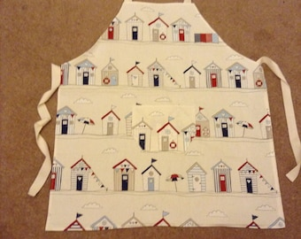 Beach Huts Cotton Apron