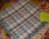 "Seersucker Plaid Fabric, Nice Sized Piece, 5 1/2'L x 45""W, Lovely Colors"