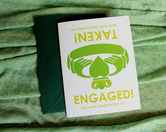Claddagh ring engagement card