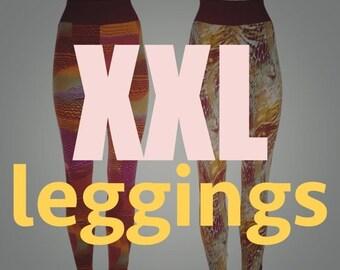 ON SALE Plus size leggings, XXL leggings / pants / tights, womens plus size fashion